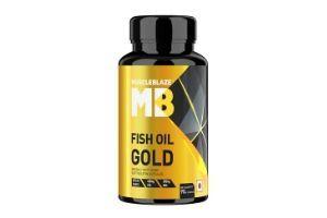 MuscleBlaze Fish Oil Gold,Triple Strength Fish Oil Omega 3 Capsule