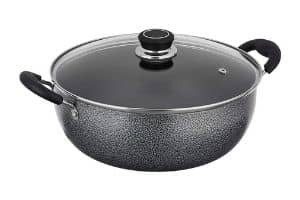 Solimo Non-Stick Kadhai with Glass Lid