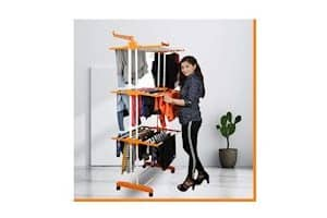 Magna Homewares High Tensile Steel Grandis Plus 3 Layers Cloth Drying Stand