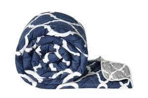 Divine Casa Microfiber All-Weather Abstract Printed Reversible Single bed Comforter